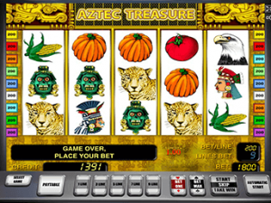 Автоматы Aztec Treasure с бонусом